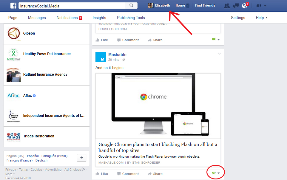 act as your Facebook Page anywhere